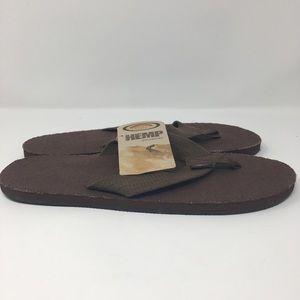 Rainbow Sandals 301AHTS Natural Hemp Single Layer Flip Flop Mens sizes S-XXXL!!